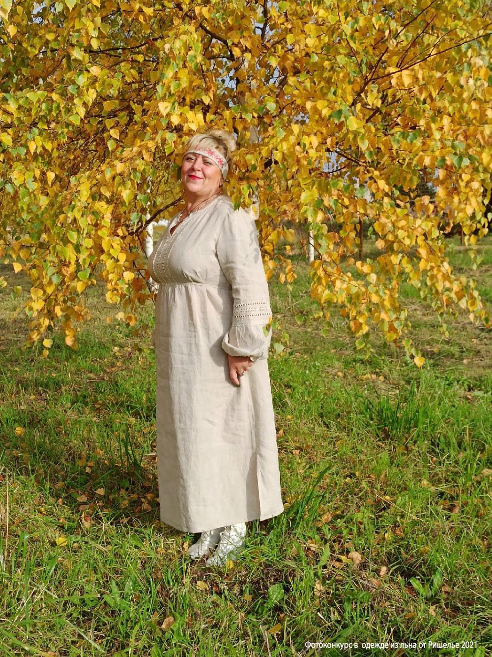 Купить платье в славянском стиле | Льняное платье в славянском стиле